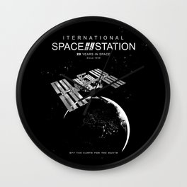 ISS-International Space Station-NSA-ESA-Soyuz-Space Shuttle-Astronomy Wall Clock