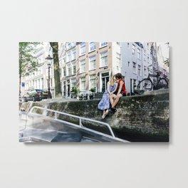 Amsterdam kiss Metal Print