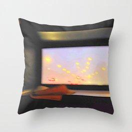 double-decker window Throw Pillow