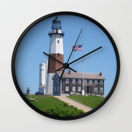 Montauk the end Wall Clock