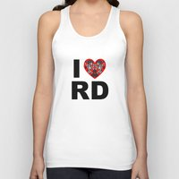 roller derby Tank Tops featuring I heart roller derby by Andrew Mark Hunter