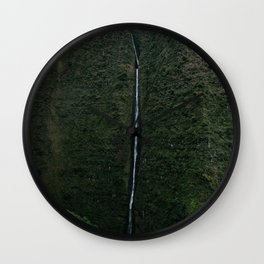 Kauai Waterfall Wall Clock