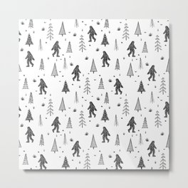 trees + yeti pattern Metal Print