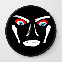 The black side with blue eyes Wall Clock
