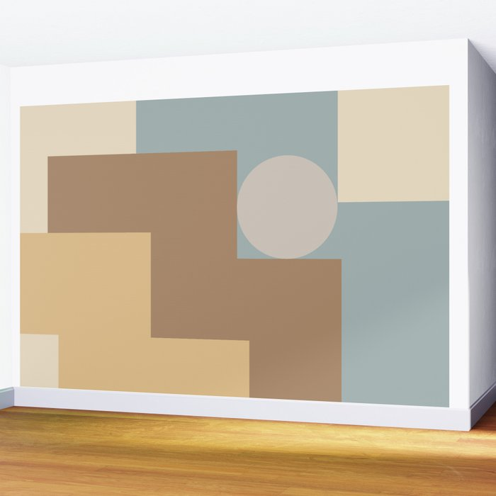 Contemporary Composition 09 Wall Mural