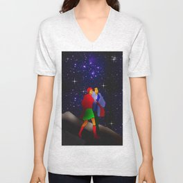 Appointment at the pleiades. Unisex V-Neck
