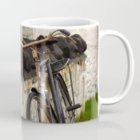 cycle Mugs featuring Cycle by Sarah Ridings