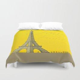 Tour De France Eiffel Tower Duvet Cover
