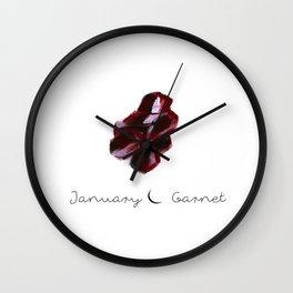january garnet Wall Clock