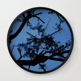 Midnight Branches Wall Clock