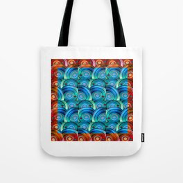 Circle design with Heart Tote Bag