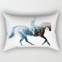 Horse (Canter on the beach) Rectangular Pillow