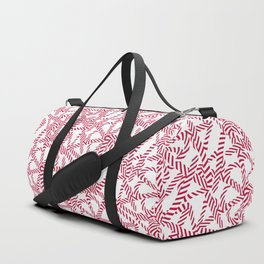 Candy cane flower pattern 5 Duffle Bag