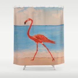 love flamingo Shower Curtain