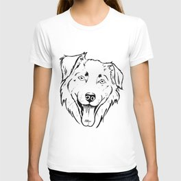 Portrait of a cheerful shaggy dog T-shirt