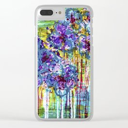 Summer Days - Abstract - Floral painting Clear iPhone Case