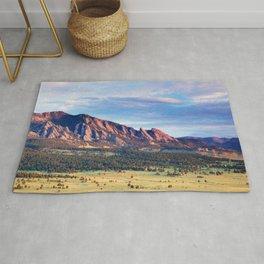 Boulder Colorado Flatirons Rug