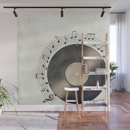 Vinyl Music Collection Wall Mural