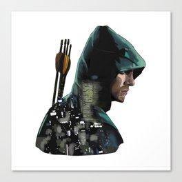 Green Arrow + Star City Canvas Print