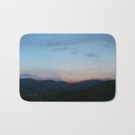 Moonrise over northern California Bath Mat