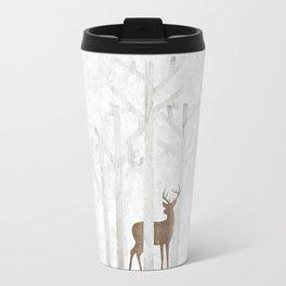 Deer  Snow Ball Travel Mug