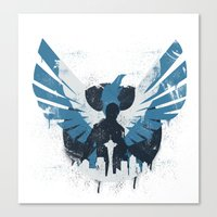 hero Canvas Prints featuring Hero by Pixel Design