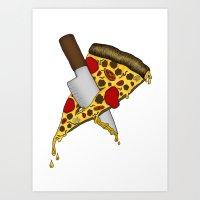 Pizza Never Dies Art Print
