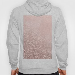 Rose Gold Sparkles on Pretty Blush Pink VI Hoody