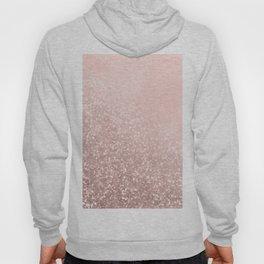 Rose Gold Sparkles on Pretty Blush Pink VI Hoody