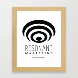 Resonant Mastering Logo Framed Art Print