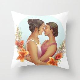 Shulamit & Aviva Throw Pillow