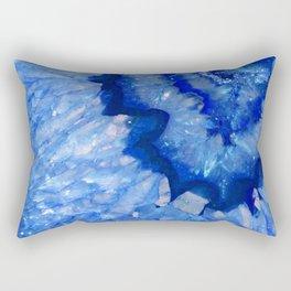 Ocean Blue Crystal Rectangular Pillow
