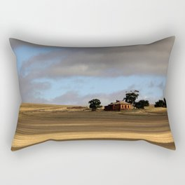Rural Landscape and Farmhouse in Australia Rectangular Pillow