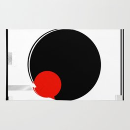 black and white meets red version 17 Rug