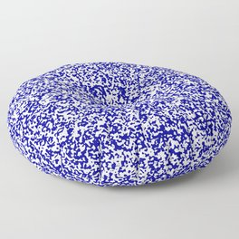 Tiny Spots - White and Dark Blue Floor Pillow