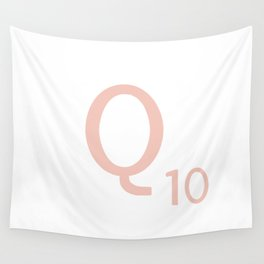 Pink Scrabble Letter Q - Scrabble Tile Art and Accessories Wall Tapestry
