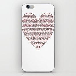 I Love You All Over My Heart iPhone Skin