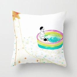 float. Throw Pillow