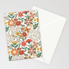 Romance Seamless Pattern Stationery Cards
