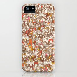 Victorian Crowd iPhone Case