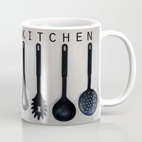 kitchen Mugs featuring KITCHEN by MadiS