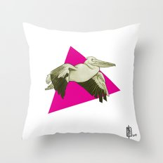 Pelican Digital Throw Pillow