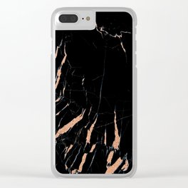 Black and rose gold / copper #2 Clear iPhone Case