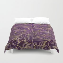 Tangles Violet and Gold Duvet Cover