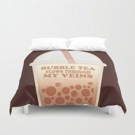 Bubble Tea Veins Duvet Cover
