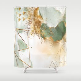 Mystic golden botanics II Shower Curtain