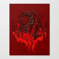 werewolf Canvas Prints featuring Werewolf by Kivapo