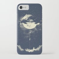 the moon iPhone & iPod Cases featuring MOON CLIMBING by los tomatos