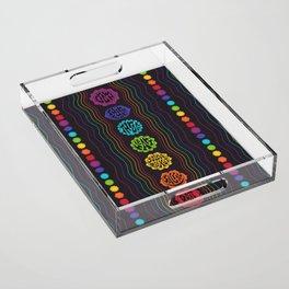 Rainbow Chakras Acrylic Tray