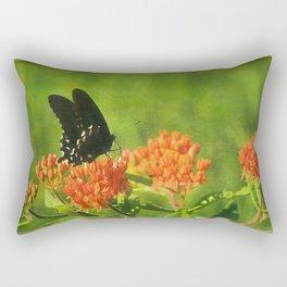 Asclepias tuberosa  (Butterfly Weed) Rectangular Pillow